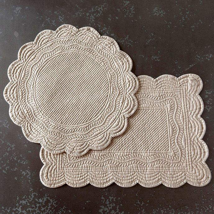 Set Of 4 Marseille Linen Placemats Tableware Ballard