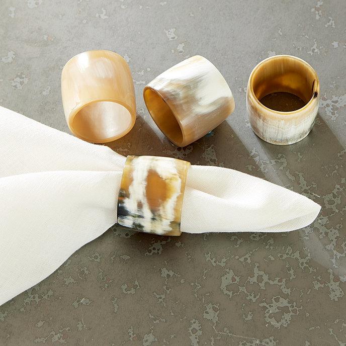 Horn Napkin Rings Ballard Designs