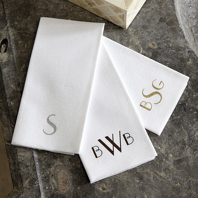 Paper Guest Towels Bathroom: Monogrammed Paper Guest Towels - Set Of 50