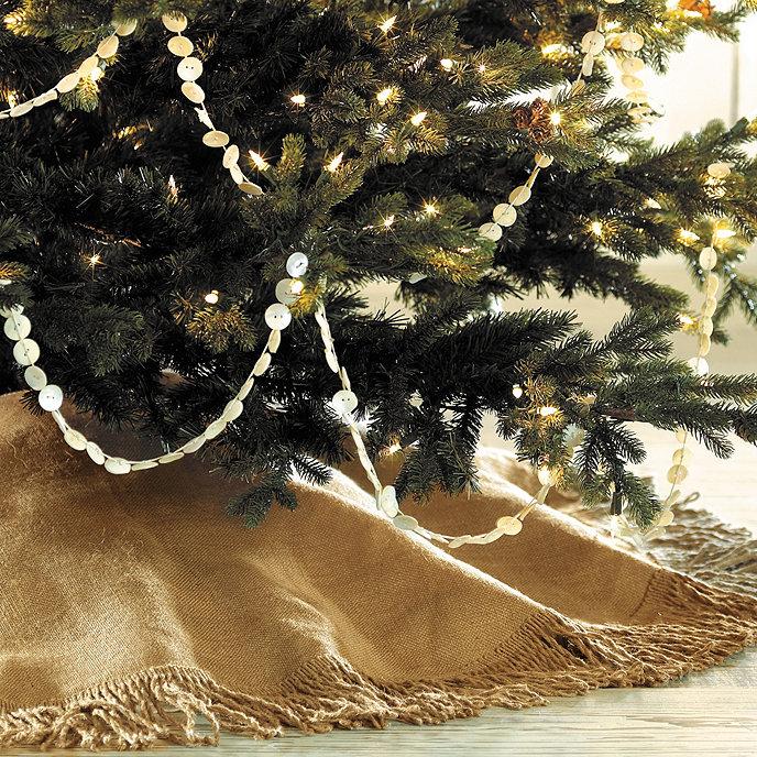 fringed burlap tree skirt 60 in - Burlap Christmas Tree Skirt