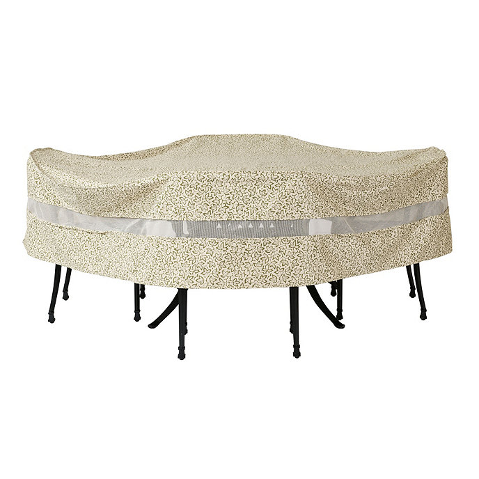 Outdoor Round Table Amp Chairs Cover 108 Inch Ballard