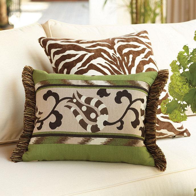 Designer Outdoor Suzanni Green Pillow European Inspired