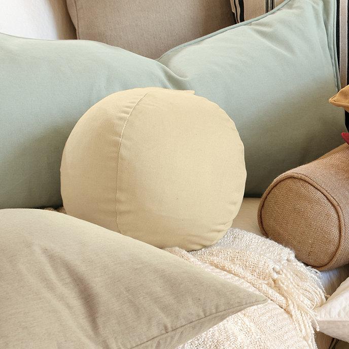 Ballard Basic Decorative Ball Pillow With Insert 10 Inch