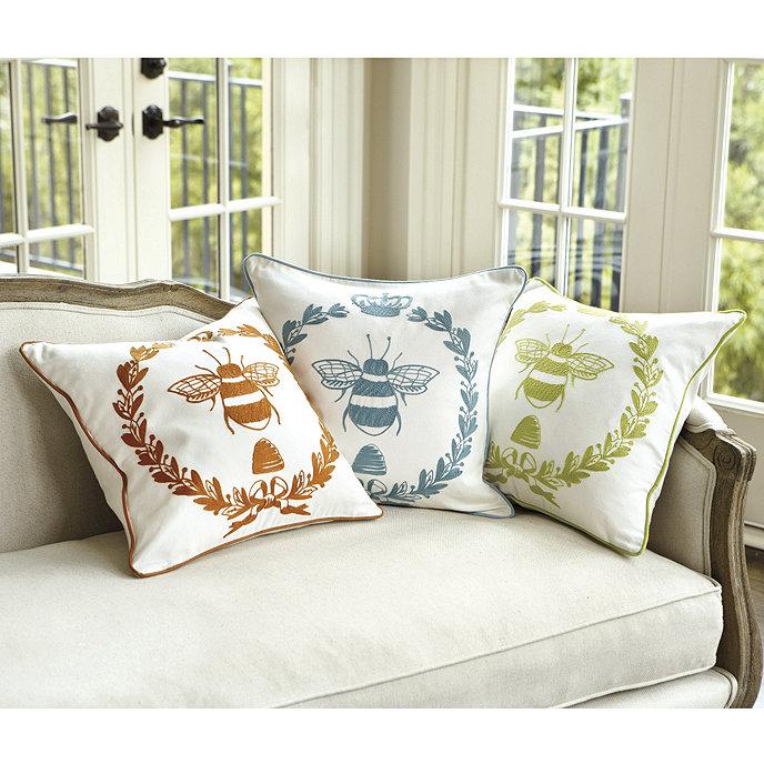 Embroidered Napoleonic Bee Pillow Ballard Designs