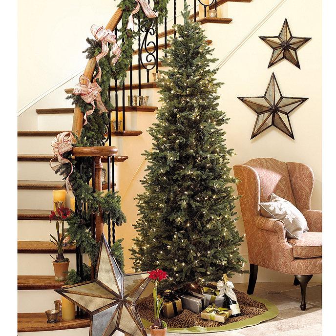 Slim Profile Angel Pine Pre-lit Christmas Tree | Ballard ...