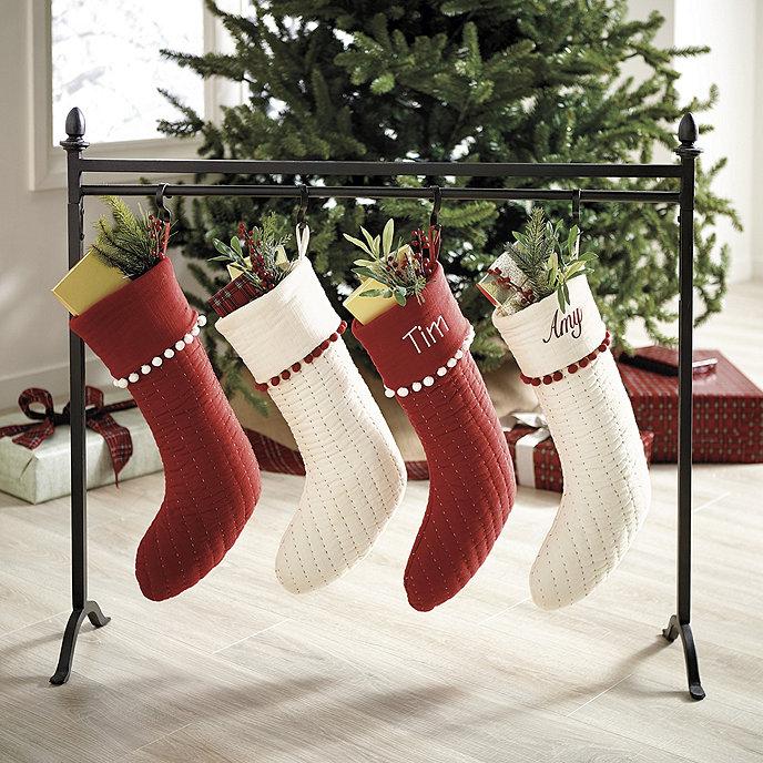 iron finial stocking stand ballard designs. Black Bedroom Furniture Sets. Home Design Ideas