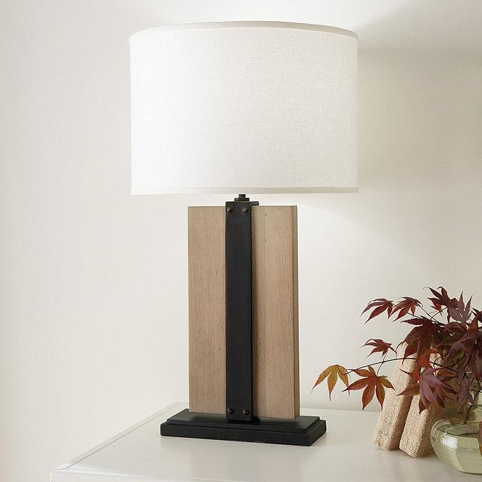 Jasper Wood Table Lamp Base Oak, Square Wood Table Lamp Base