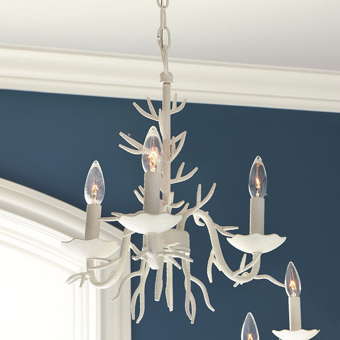 Red Coral Chandelier With 3 Lights: Coral 3-Light Chandelier
