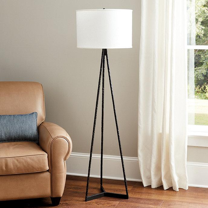 Harrison Floor Lamp from Ballard Designs | Shop the Look: Modern Farmhouse Boho Office | eDesign Tribe Blog