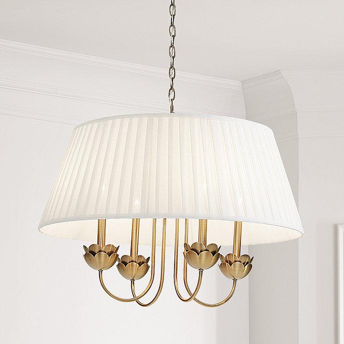 Francesca Scalloped 4 Light Chandelier with Shade Ballard Designs lighting product image
