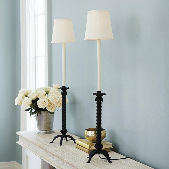 Iron Hairpin Kent Table Lamp Base: Lasalle Buffet Lamp