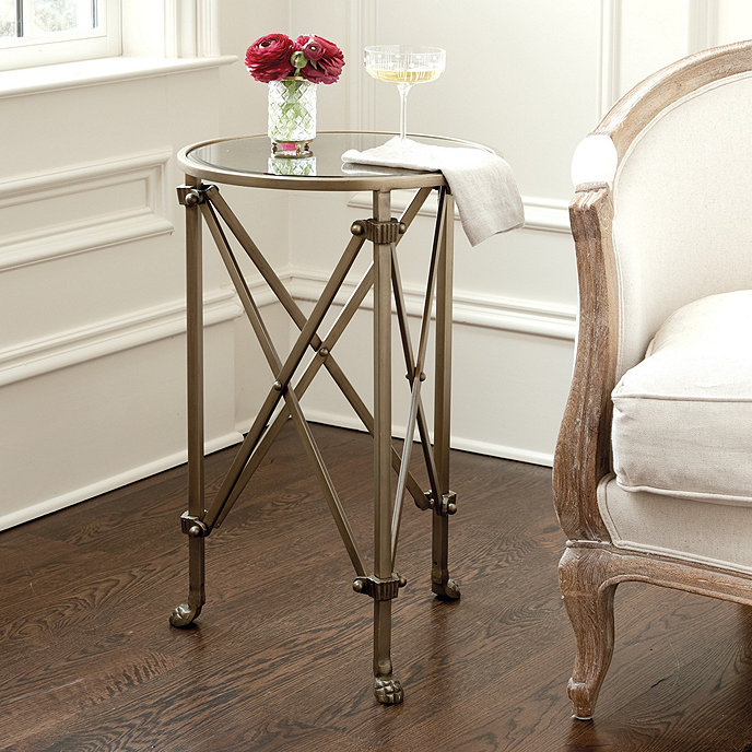 Mirrored Octagon Coffee Table: Olivia Mirrored Side Table