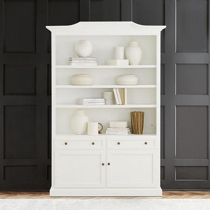 Josephina Bonnet Top Large Bookcase with Door