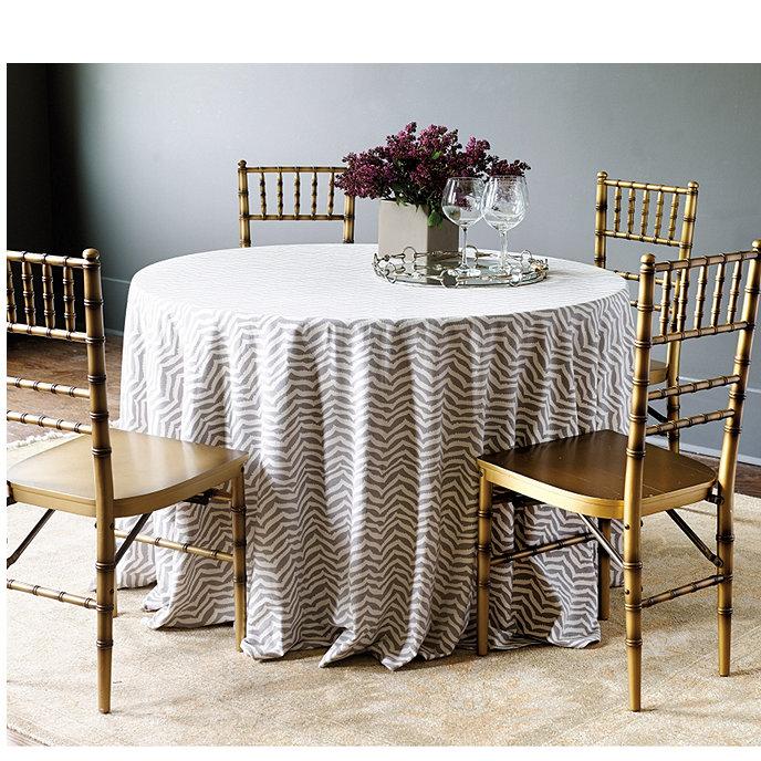 Zebra Chevron Tablecloth Ballard Designs