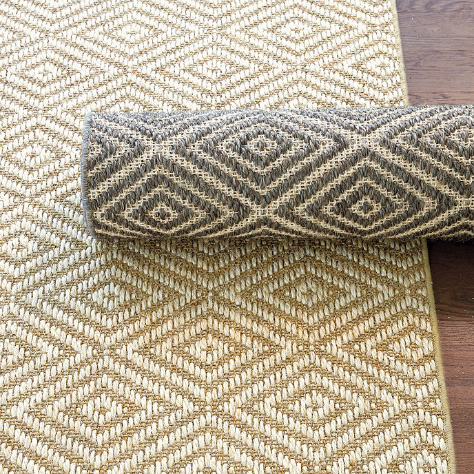 Diamond Sisal Rug Ballard Designs