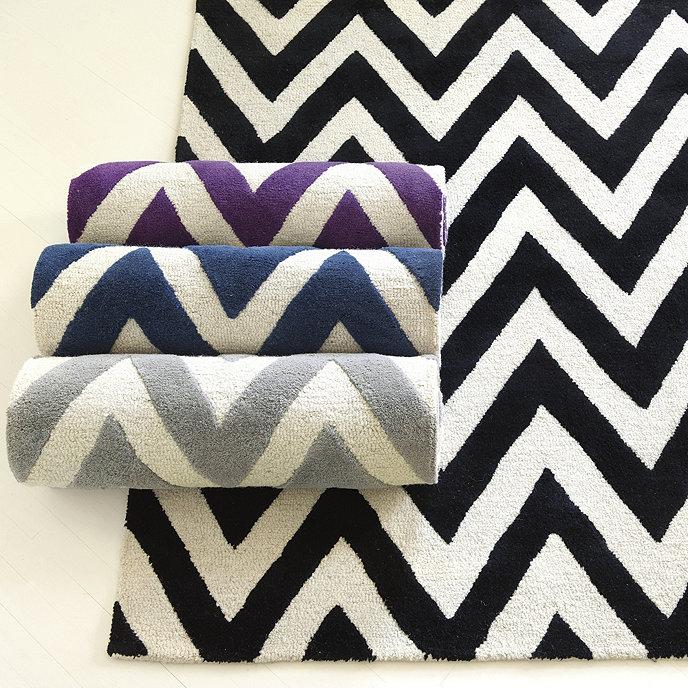 Chevron Stripe Hand Tufted Rug Ballard Designs