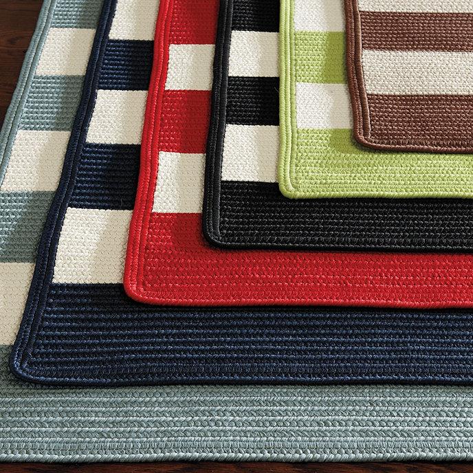 Striped Braided Indoor Outdoor Rug Ballard Designs