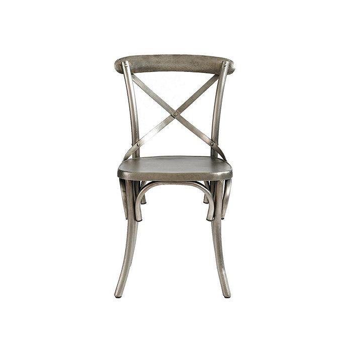 Constance Metal Barstool In Aged Nickel Via Ballard: Set Of 2 Constance Metal Dining Chairs