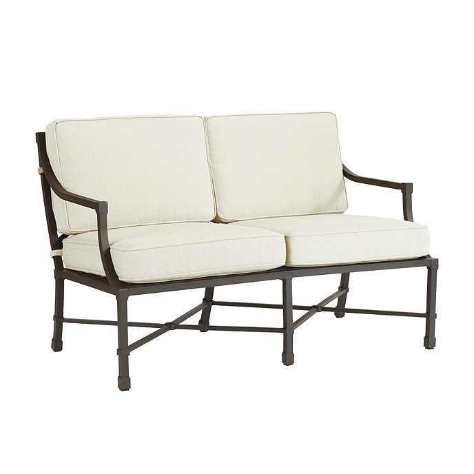 Suzanne Kasler Directoire Loveseat with Cushions