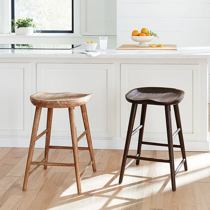 Corey Wood Tractor Seat Stool