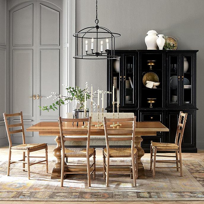 Tarvine Double Pedestal Dining Table European Inspired Home Furnishings Ballard Designs