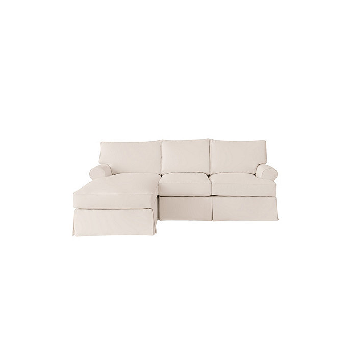 Outstanding Davenport 2 Piece Sectional With Left Arm Chaise And Right Arm Loveseat Slipcover Stocked Machost Co Dining Chair Design Ideas Machostcouk