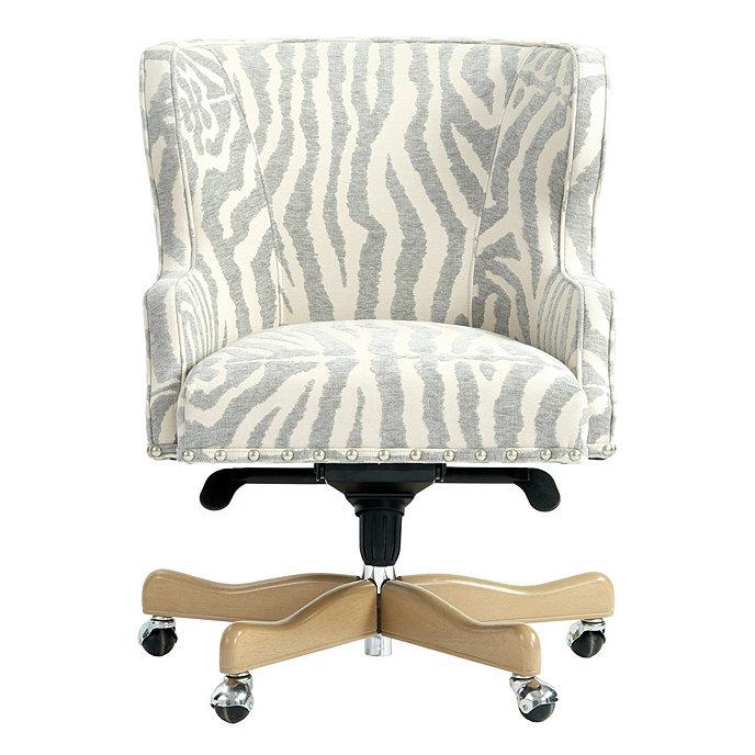 Suzanne Kasler Carson Desk Chair In Zadie Silver Sunbrella