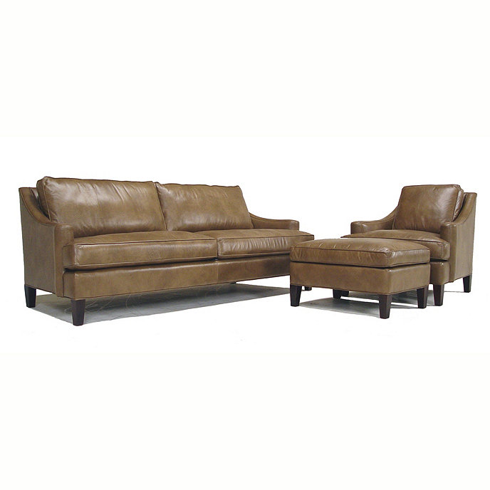 Leather Recliner Sofa Manchester: Manchester Leather Ottoman