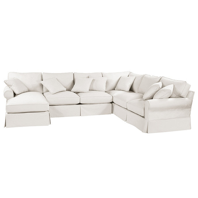 Baldwin 4-Piece Sectional with Left Arm Chaise Slipcover ...
