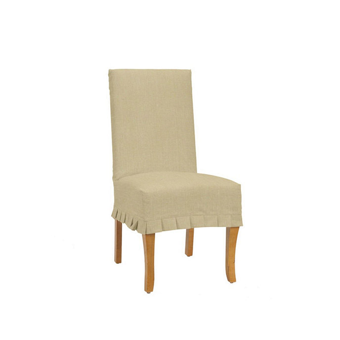 Suzanne Kasler Linen Couture Chair Pleated Slipcover