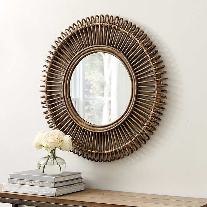 Raylan Round Rattan Mirror image