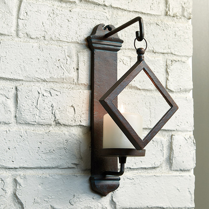 Bunny Williams Outdoor Diamond Candle Sconce
