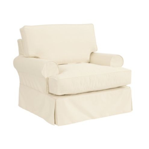 Davenport Club Chair Slipcover and Frame
