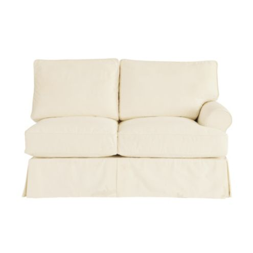 Davenport Right Arm Loveseat Slipcover - Ballard Essential