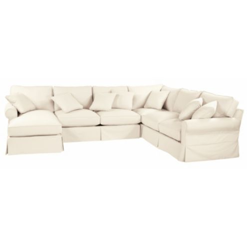 Baldwin Sectional Slipcover - Left Arm Chaise and