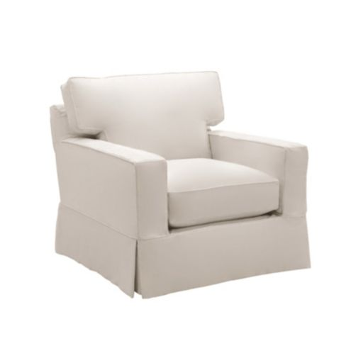 Graham Club Chair Slipcover and Frame