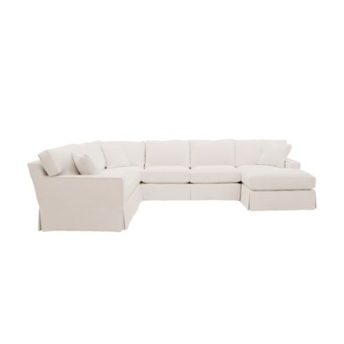 Baldwin 4-Piece Sectional with Right Arm Chaise Slipcover - Special ...