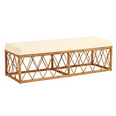 Suzanne Kasler Southport Rattan Bench