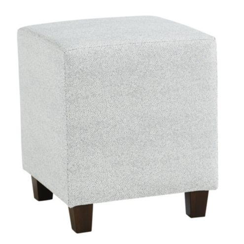 Cooper Cube Ottoman Shagreen Spa with Driftwood Finish