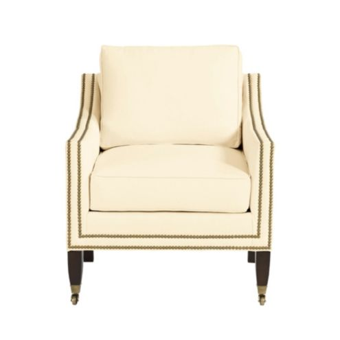 Griffin Club Chair with Aged Brass Nailheads