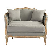 Sofia Upholstered Cuddle Chair - Stocked