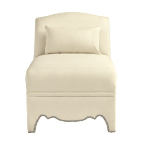 Amal Slipper Chair with Pewter Nailheads