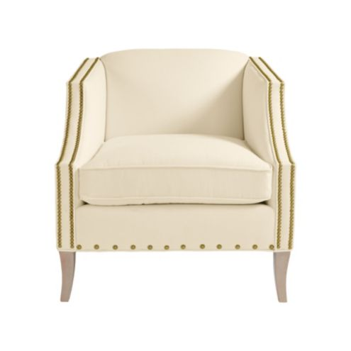 Nadia Club Chair with Brass Nailheads
