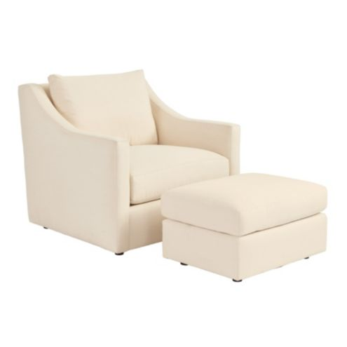 Sutton Upholstered Chair & Ottoman