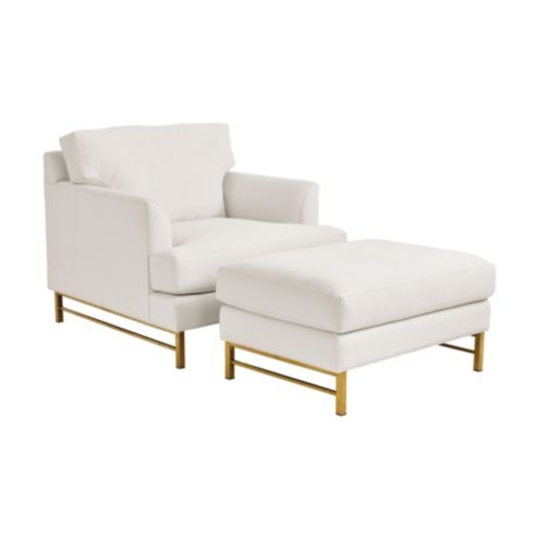 Kathryn Upholstered Chair & Ottoman