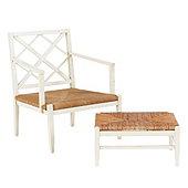 Casa Florentina Lucinda Lounge Chair & Ottoman