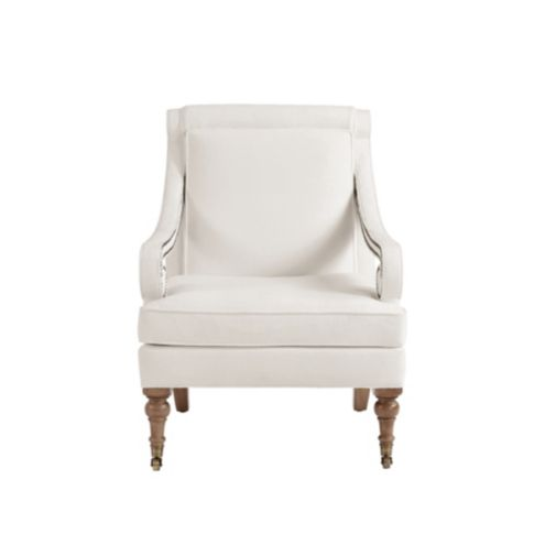 Bunny Williams Scroll Arm Upholstered Chair with Aged