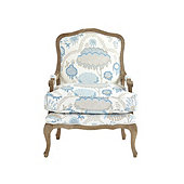 Louisa Bergere Chair in Allie Sky - Stocked