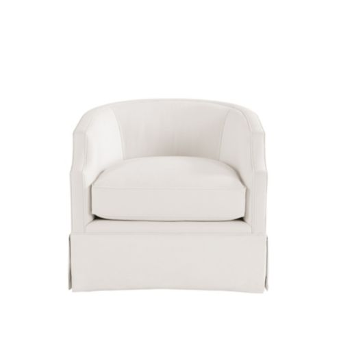 Skylar Swivel Glider Chair With Skirt