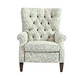 Morrison Recliner in Shemar Mist with Weathered Legs -Stocked